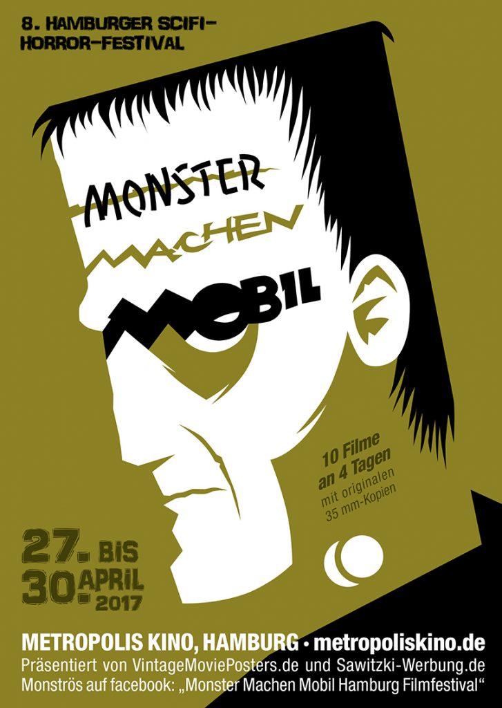 Keyvisual-Artwork für das Filmfest Monster Machen Mobil