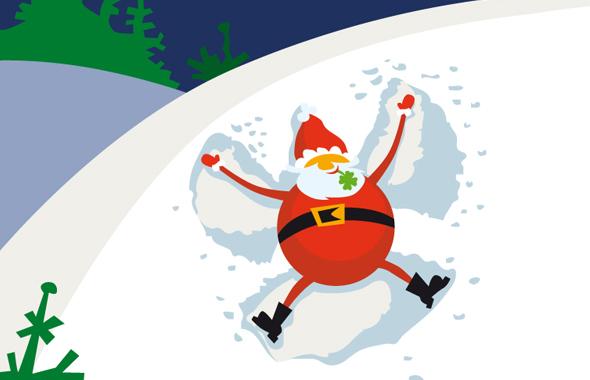 Weihnachtliche Illustration